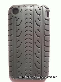 iPhone 3GS Back Cover Silicone Black Tyre Tread